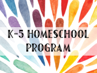 K-5 Homeschool Program
